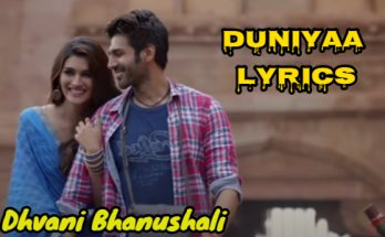 Duniyaa Lyrics
